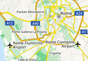 Map of the 2 airports in Rome