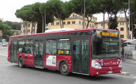 A local bus in Rome